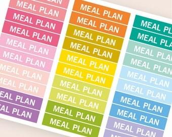 Meal plan Heading stickers, planner header stickers, planner stickers, agenda notebook journal stickers, eclp filofax happy planner kikkik