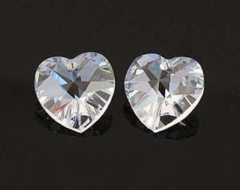 swarovski crystal Beads Heart Pendant (6202) 10mm Red Magma 5 pieces