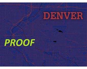 Denver Streets Map