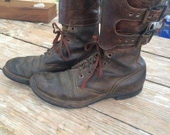 Rare WW2 Army Combat Double Buckle Boots