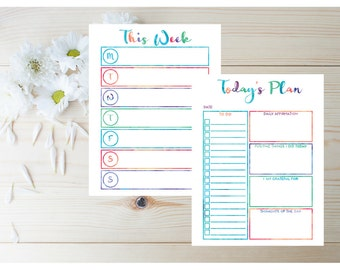 Binder Printables - Binder Planner - Agenda 2017 - Daily Planner - Day Planner 2017 - 2017 Weekly Planner - 2017 Personzalized Planner