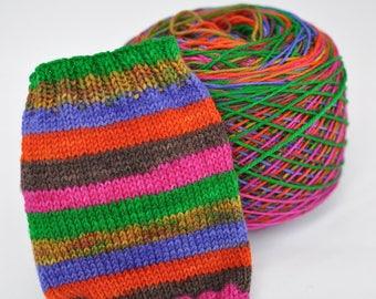 Hand Dyed Self Striping Yarn - Hippie Chick