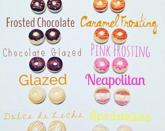 Choice of Donut Fabric Earrings