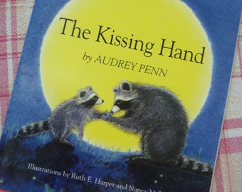 Vintage 1993 Children's Story Book ~ 'The Kissing Hand', Charming Story, Chester Raccoon's Secret, Fun Read Aloud Story, Colorful Drawings~