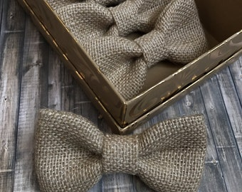 Burlap bow tie perfect for Easter, weddings, or  everyday wear