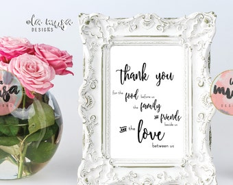 WEDDING THANK YOU Printable Sign {Instant Download} {Printable} {Script}