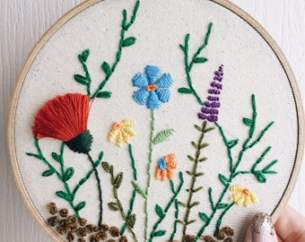 Flower Bunch Embroidery Hoop