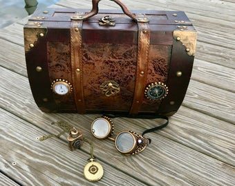 Steampunk Suitcase with Accessories