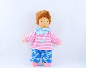 Handmade waldorfinspired doll, cuddledoll, toydoll, waldorfdoll, babyshower, naturaldoll, clothdoll, toddler, babydoll, doll, Steinerdoll