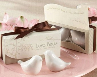 Cute Kissing birds salt n pepper shaker Wedding Favors- (Set of 50)