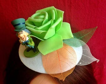 Mini Hats Mad Hatter from Alice in Wonderland,Christmas,Carnival,Valentine's Day,New Year,costume party,accessories,rose,green,handmade