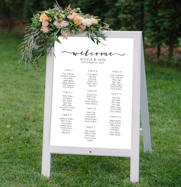 Druckbare digitale Datei Custom kalligrafische Hochzeit Sitz