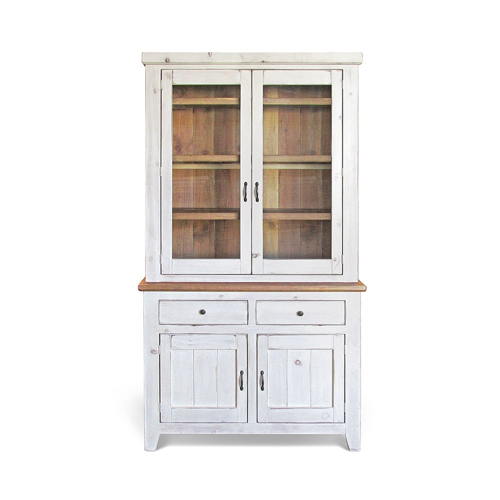 Sideboard hutch farmhouse reclaimed wood buffet china for Sideboard hoch