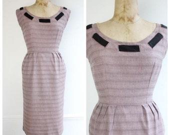 Vintage 1950's Mountbatten Pink Wiggle Dress casual fifties 50's original goodwood revival midcentury