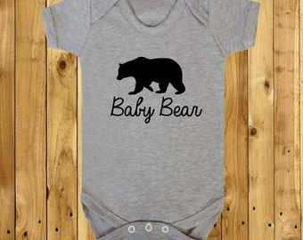 Baby Bear Tshirt, Mothers Day Gift, Father's Day Gift, Mama Papa Baby, New Baby, Baby Shower, First Family Christmas, Kids Stocking Filler