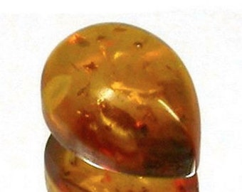 AAA Rated Pear Cabochon Natural Rich Golden Baltic Amber (6x4mm-18x13mm) Loose Stones