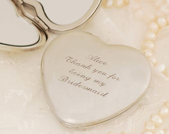 Engraved Heart Mirror ~ Personalised Birthday, Wedding, Bachelorette, Mother's Day, Anniversary Gift