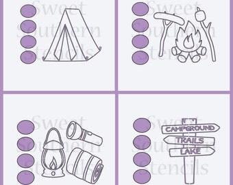 Camping PYO Cookie Stencils (4 separate stencils)