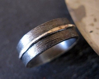 Mens Ring Man Ring Boyfriend Gift Black Ring Black Rhodium Ring Silver Ring Wedding Band Man Wedding Band Man Wedding 8mm River Ring Mens