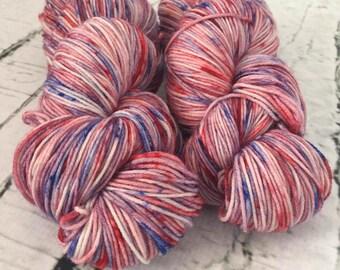 Sock yarn superwash merino, nylon, green, blue, grey, hand dyed