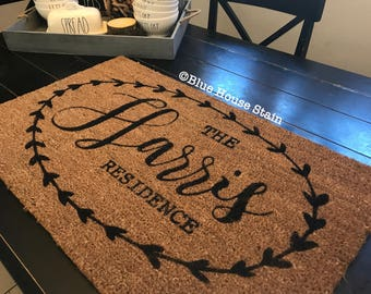 Custom Doormat, Doormat, Door mat, wedding gift, housewarming gift, customizable gift, Custom Gift