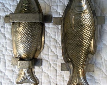 Pastry Chef aluminum mould. The son Fanu. Fish shaped. Professional.