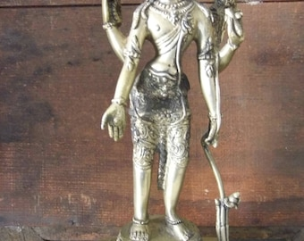 Hindu deity Shiva in gilded bronze - India - Middle 20th century