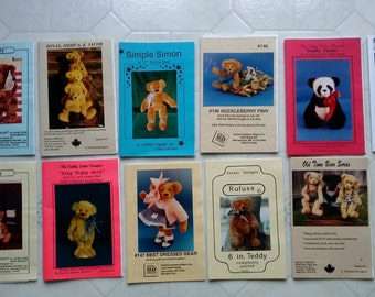 12 teddy bear patterns, collection B