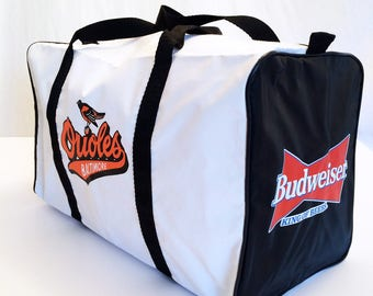 Vintage Baltimore Orioles & Budweiser Camden Yards Duffle Bag, MINT: Never Used
