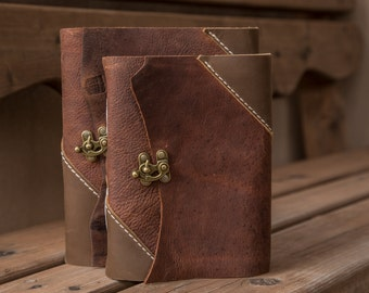 The Troubadour Leather Journals   Handmade in the USA   Hand-Stitched Notebook