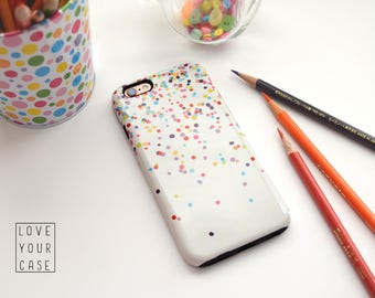 1375 // Colorful Confetti Polka Dots Phone Case iPhone 5/5S, 6/6S, 6+/6S+ Samsung Galaxy S5, S6, S6 Edge Plus, S7
