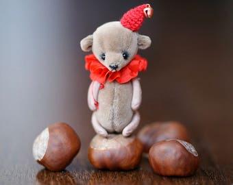 Artist teddy bear ooak friend for blythe toy miniature toy pocket toy bjd toy blythe accessories blythe outfit mini miniatures ooak 6 cm