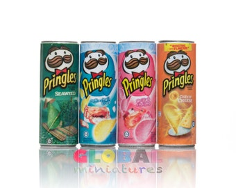 Dollhouse Miniatures Can of Pringles Potato Chips