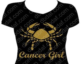 "New Zodiac Metallic Gold ""Cancer Girl"" Tee"