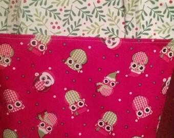 Festive owls Christmas purse