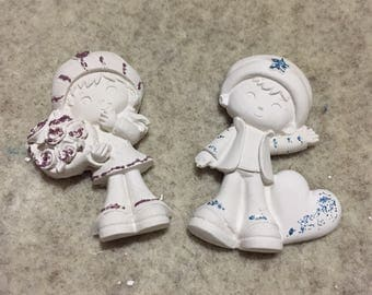 10pcs sympathetic Figures in plaster perfumed