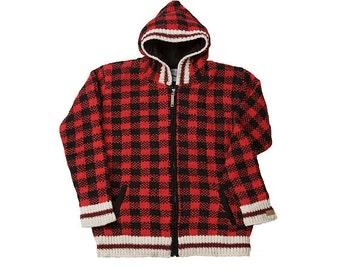 Ladies Checker Long Cardigan, Coat, Sweater, Jacket, Hoodie