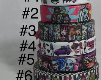 Monster High Grosgrain Ribbon, Crafting Ribbon