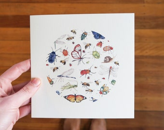 Insects- Greeting Card