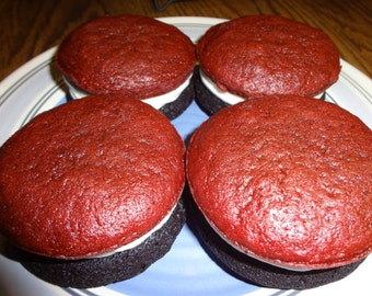 Cakey, Fluffy and Creamy Homemade Celebration Whoopie Pies (30 Cookies & Choice of Colors)