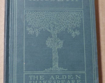 Macbeth Vintage book Antique book Collectible book Classic book The Tragedy of Macbeth 1900s book Hardcover book