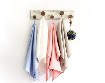 Stone Washed Linen Tea Towel in many colours