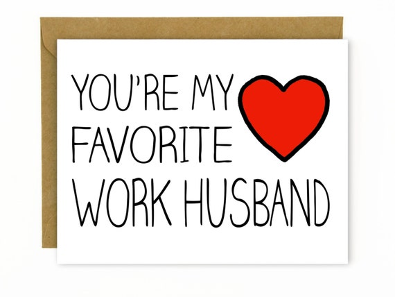 Coworker Gift Card For Co Worker Favorite Work Husband