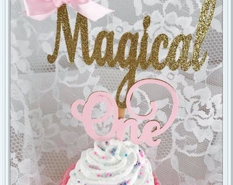 Magical One Cupcake Toppers - One Cupcake Toppers - Magical Party Decorations - Magical Party Decor - Magical Birthday Party Cupcake Toppers