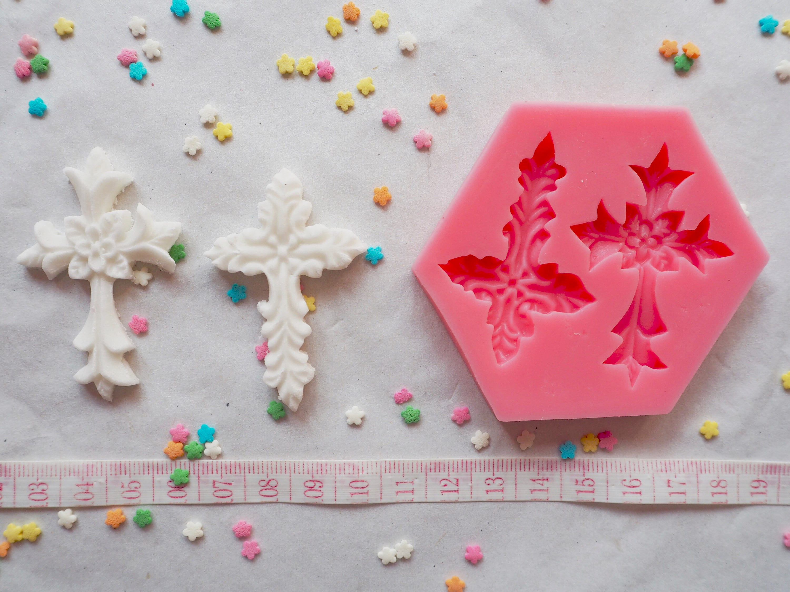 Fancy Cross Silicone Mould Mold Cake decorating Cakes Cookies