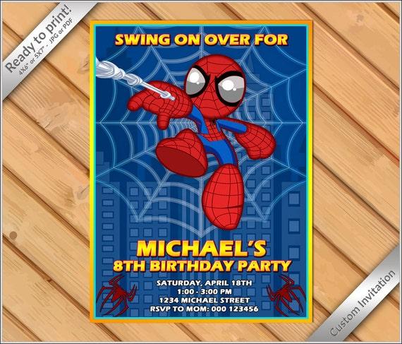 50 off sale super hero cute spider man birthday party invitation il570xn solutioingenieria Gallery