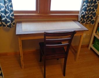 Beautiful Black Walnut & Mahogany console desk