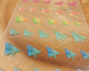 Origami Stickers, Paper Plane Decal, Kawaii Scrapbooking Decoration