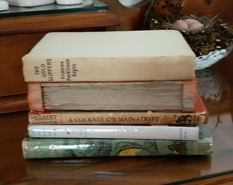Vintage Hardback Novels - great for craft, decor or holiday reading!