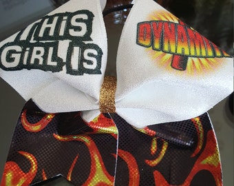 This Girl is Dynamite Cheer Bow